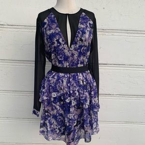 Gorgeous Robert Rodriguez Purple & Black Dress